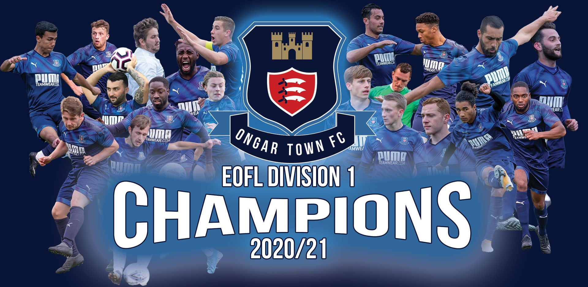 Ongar Town Division one Champions